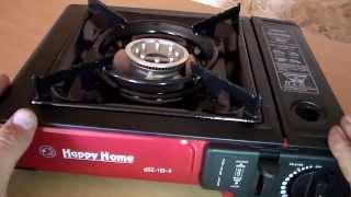 Походная газовая плита с переходником Happy Home(, 2014-09-08T11:22:17.000Z)
