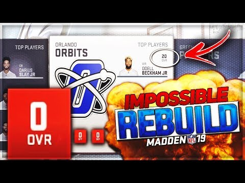 IMPOSSIBLE REBUILD -- Rebuilding A 0 Overall Team   Madden 19 Franchise Mode