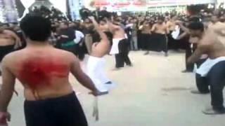 Nadeem Sarwar   Farhan Ali Waris Zanjeer Zani In Karbala. part 2,,   by ALIWALEY SMS NETWORK