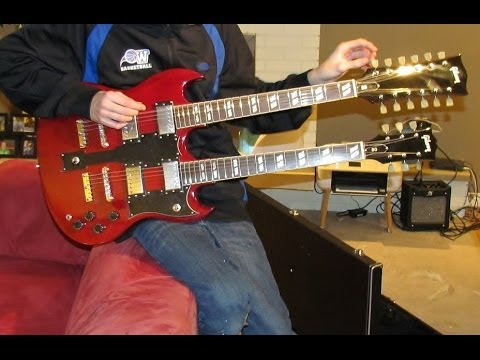 Gibson Double Neck Guitar Wiring, 1275 SG Made in China - YouTube