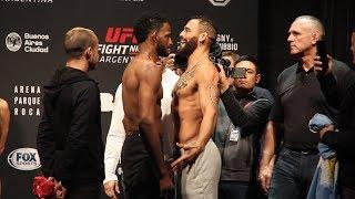 UFC Argentina: Neil Magny vs. Santiago Ponzinibbio Weigh-in Staredown