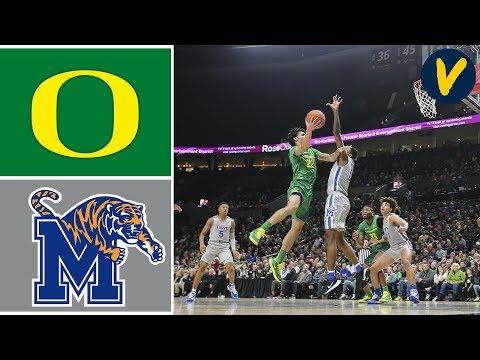 2019 College Basketball #14 Oregon Vs #13 Memphis Highlights