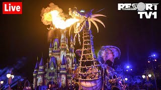 🔴Live: Villains After Hours Party at Magic Kingdom in 1080p - Walt Disney World - 7-18-19