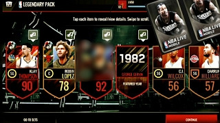AMAZING OPENING LEGENDARY PACK NBA Live Mobile