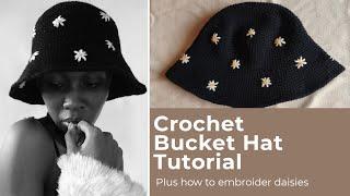 Crochet Daisy Bucket Hat