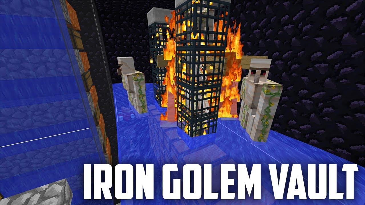 Mini Iron Golem Farm Vault Concept - Tiny IG Farm Tutorial! [Minecraft  Factions Tutorial]