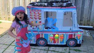 Sally wash ice cream truck!! Nursery rhymes songs for kids