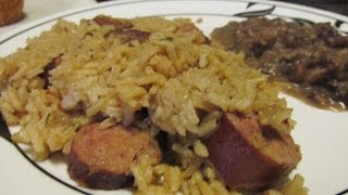 Crock pot Smoked Pork Chop Sausage Jambalaya(I don't recommend trying to cook rice in a crock pot. The rice may not absorb all the stock., 2014-08-07T16:36:31.000Z)