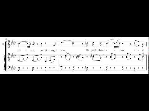 Ma rendi pur contento (Bellini) Score Animation