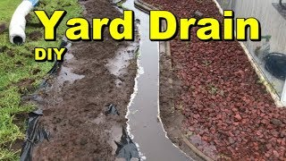 Yard Drain,  French Drain,  Do it Yourself Project for Homeowners
