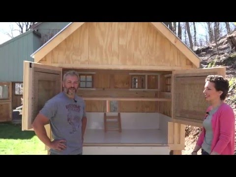 Customer Walk-through with a Custom Chicken Coop