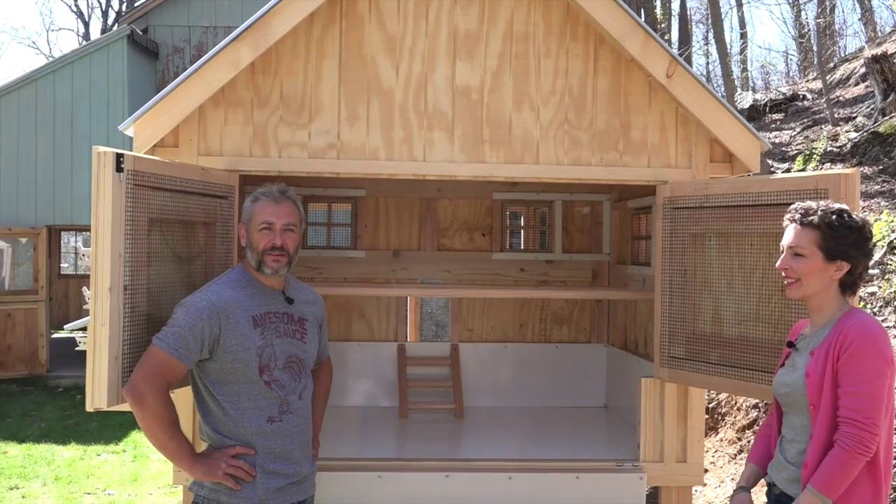 Walk In Chicken House customer walkthrough with a custom chicken coop - youtube