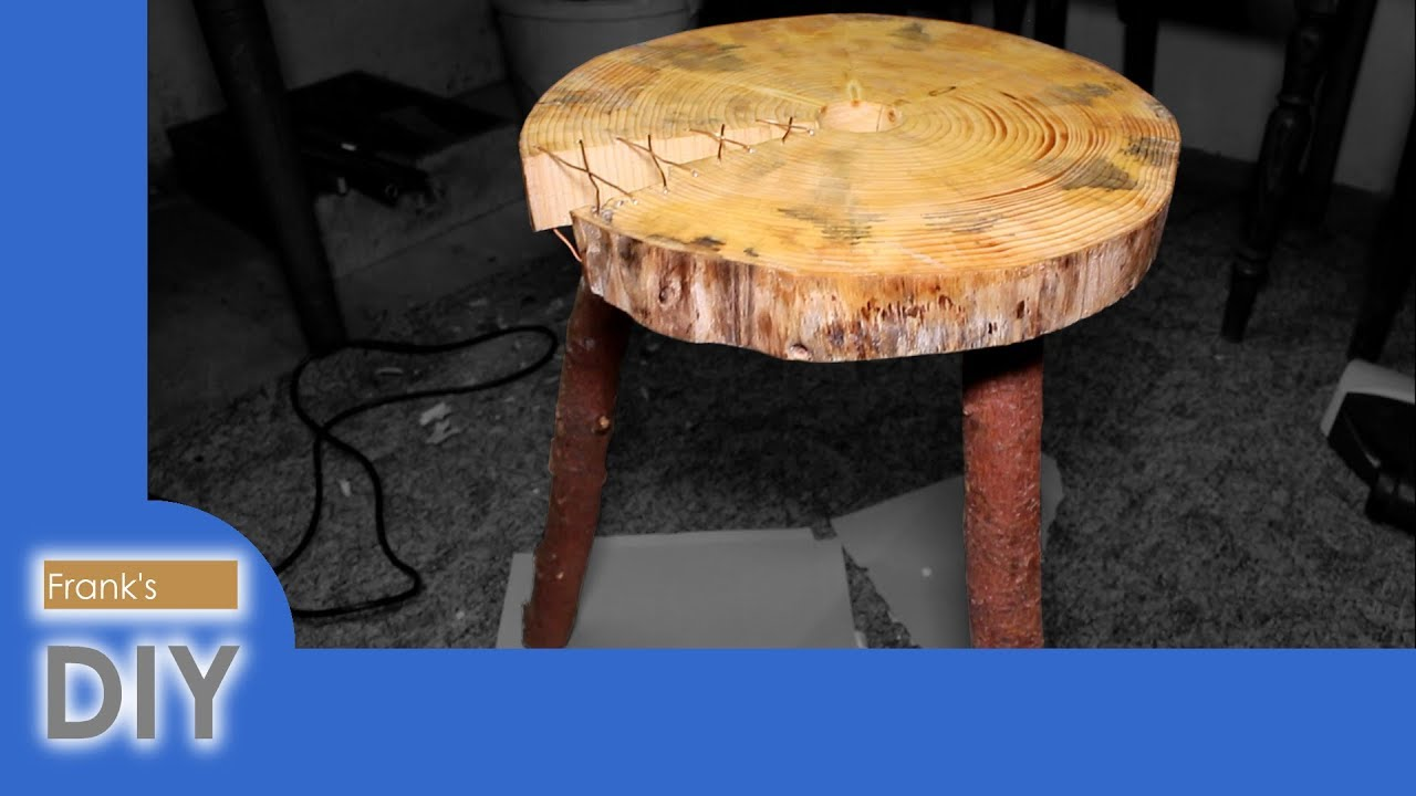 Beistelltisch Aus Baumstammscheibe Diy Wooden Nightstand Youtube