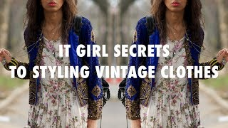 HOW TO STYLE VINTAGE CLOTHES | COATS, DRESSES, DENIM!!!