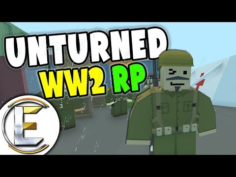 Take Out Nazi Held Outpost - Unturned WW2 Roleplay (World War II RP)
