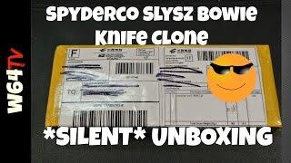 Spyderco Slysz Bowie Knife Clone - Silent Unboxing