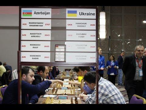 Украина - Азербайджан. Командный чемпионат Европы, 3 тур