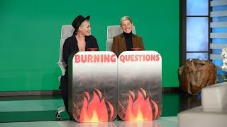 Download P!nk Answers Ellen's 'Burning Questions' Mp3 and Videos