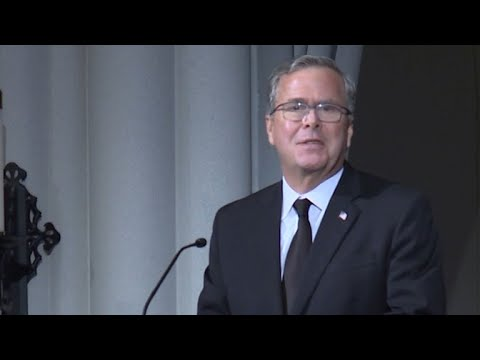 Jeb Bush eulogizes mother, Barbara Bush, at funeral