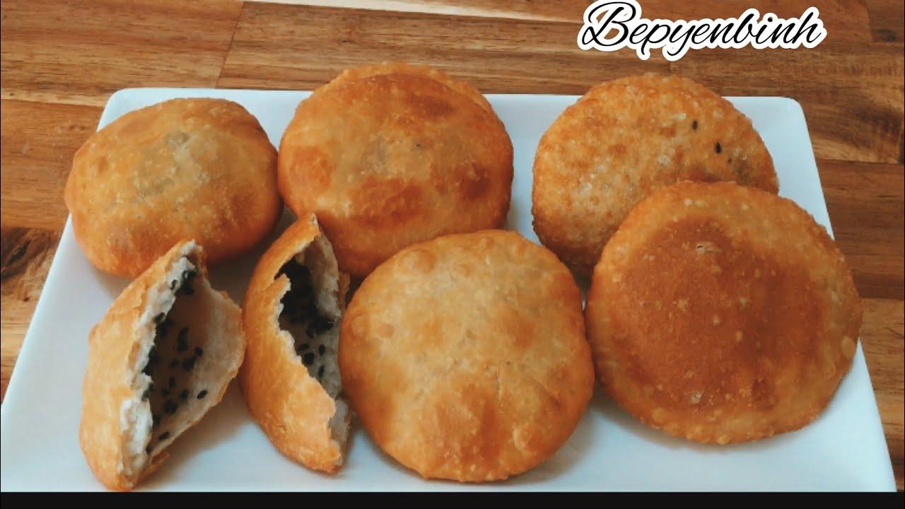 Cách làm bánh bột mì rán nhân mè ngon giòn rụm/ bánh bột mì chiên / bếp yên bình