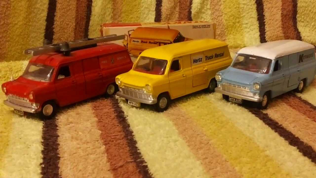 three more rare dinky toys ford transit vans hertz fire service and kenwood youtube. Black Bedroom Furniture Sets. Home Design Ideas