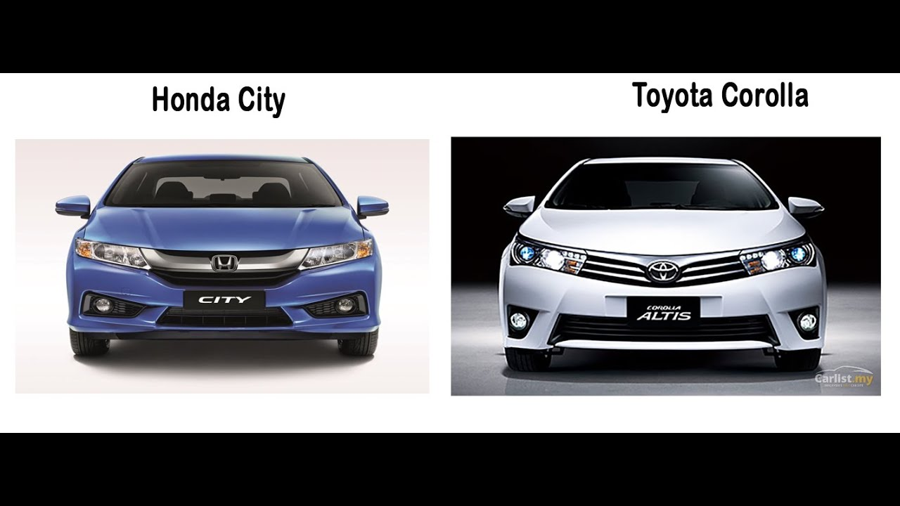 Toyota corolla vs honda city youtube for Honda vs toyota reliability