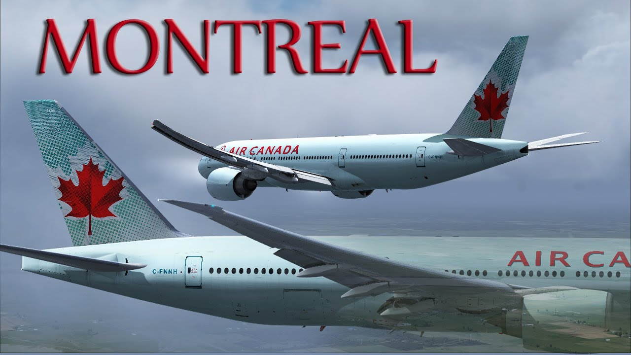 fsx air canada 777 200lr to montr al youtube. Black Bedroom Furniture Sets. Home Design Ideas
