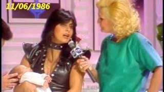 GRETCHEN E SEU FILHO DÉCIO NO PROGRAMA HEBE EM 1986