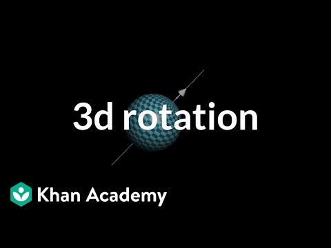 Describing rotation in 3d with a vector