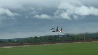 F15E Strike Eagle Full Display Duxford 04/09/2011