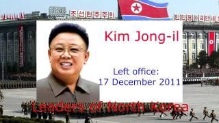 Leaders of North Korea