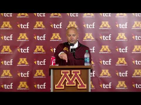 Gopher Blog - PRESS CONFERENCES: Fleck, Morgan, Johnson & more after win over Georgia St