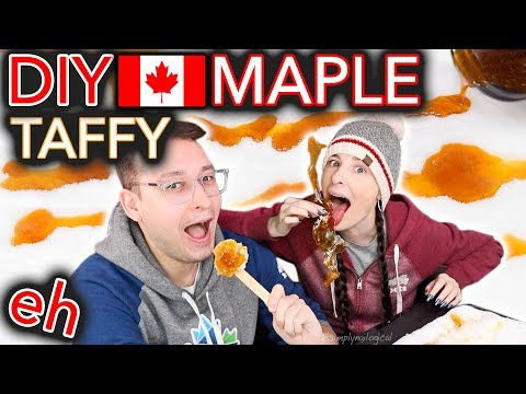 DIY Maple Taffy on a Stick (is Canada even real?)
