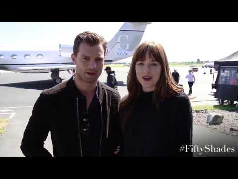 Jamie Dornan & Dakota Johnson - A special Facebook Thanks!