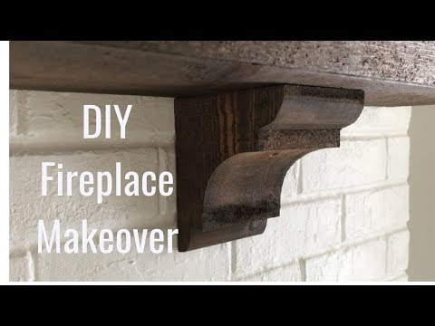 Fireplace Makeover - Cheap And EASY!