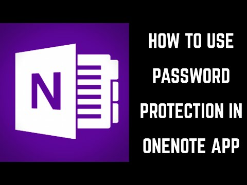 How to Use Password Protection in Microsoft OneNote App