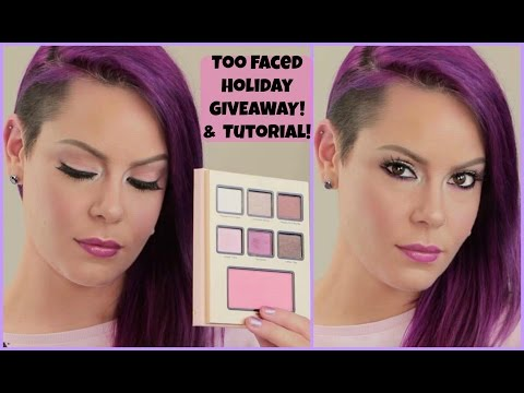 Too Faced Holiday 2016 GIVEAWAY + TUTORIAL PEPPERMINT MOCHA PALETTE GRANDE CAFE