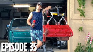 Painting & Assembling Rebuilt B30 Engine - Volvo 164 Rescue Ep 35