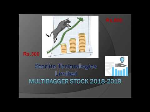 Next Generation Multibagger Stock rs300 to rs800+++ (Sterlite Technologies Limited)