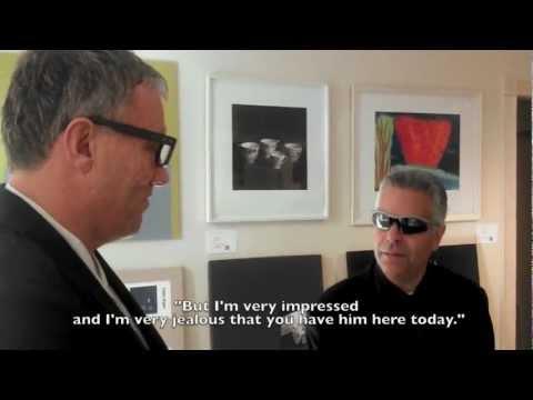 Michael Verne World Famous Art Dealer at INK Miami (Art Basel)