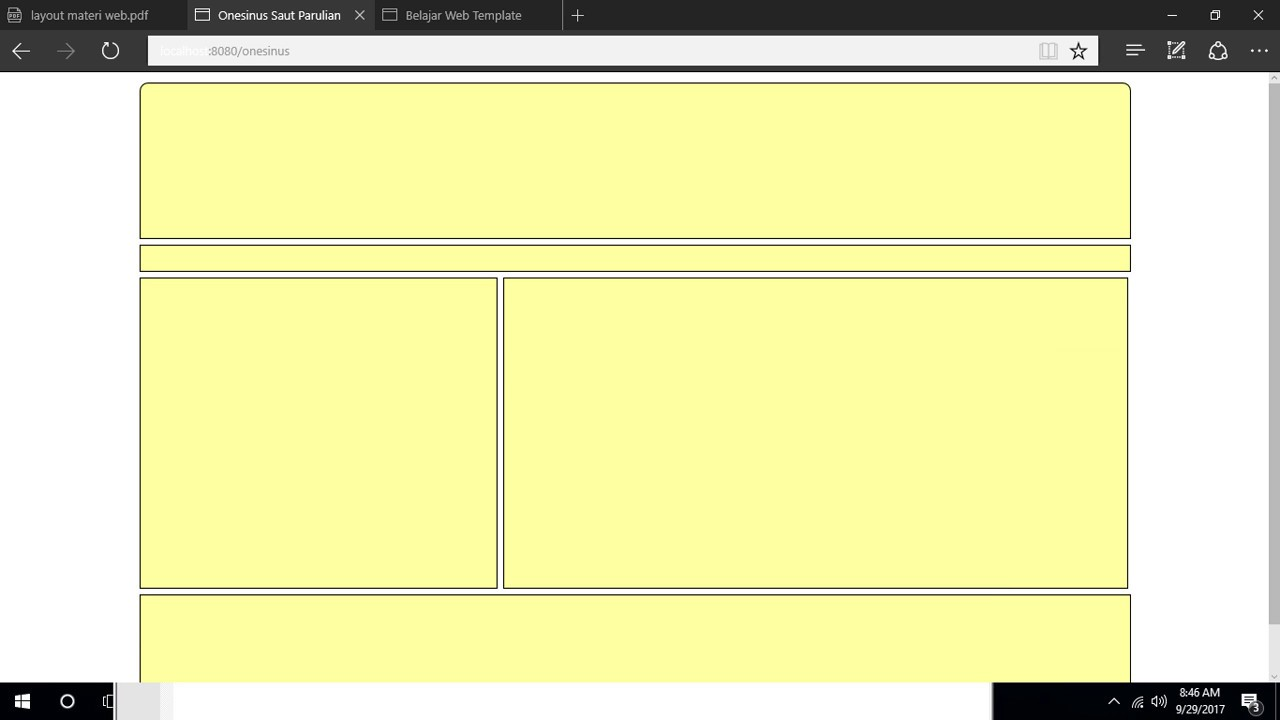Cara Membuat Template Website Sederhana Dengan Html Dan Css