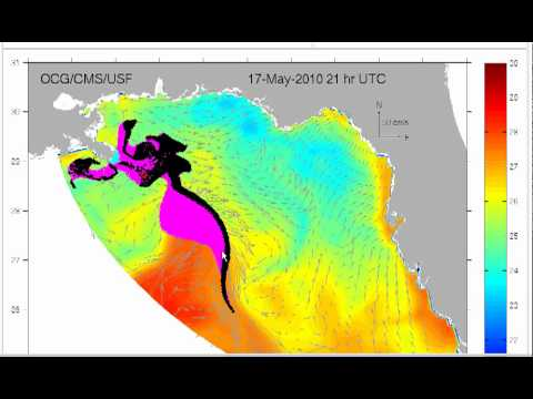 Gulf of Mexico Oil Spill Trajectory Map 2010- 05-16