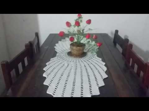 Caminho de mesa de croche Raios de sol Heloisa  Helena