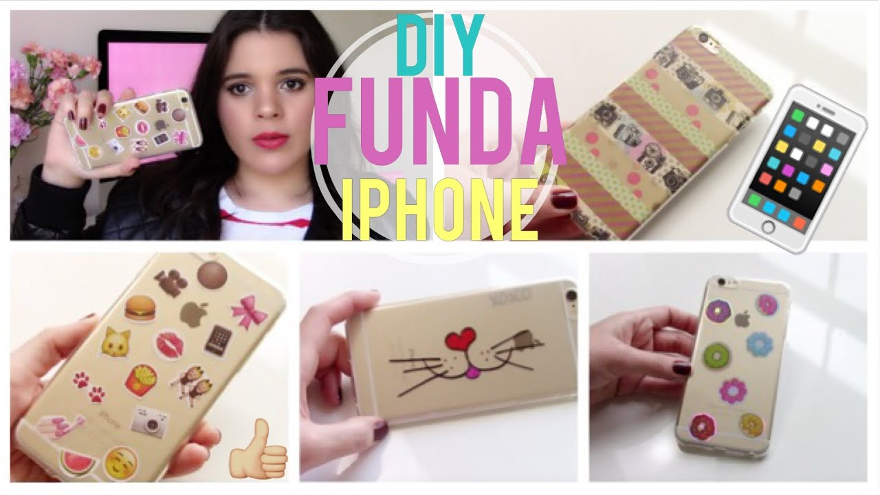 Diy funda para iphone muy f cil youtube - Como decorar una funda de movil ...