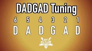 DADGAD Guitar Tuning Notes - Dsus4 Tuning - Celtic Tuning Notes