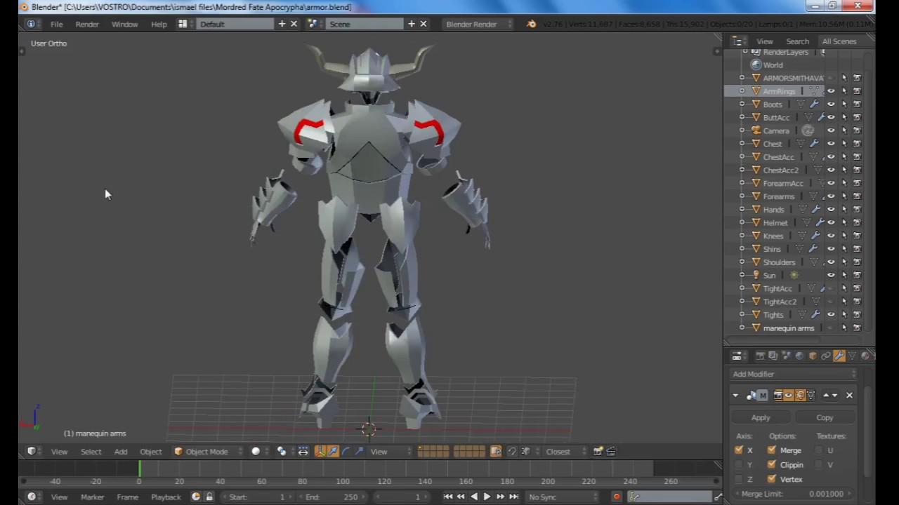 Mordred - Fate Apocrypha Armorsuit Pepakura Cosplay FREE files