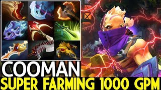 COOMAN [Anti Mage] Super Farming 9 Items 1000 GPM 7.24 Dota 2