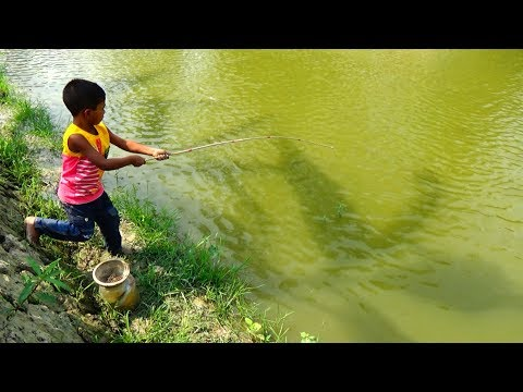 Best Fishing Video | Kids Fishing By Daily Village Life (Part-24)