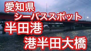 シーバスフィッシングスポット 半田港 港半田大橋 愛知県