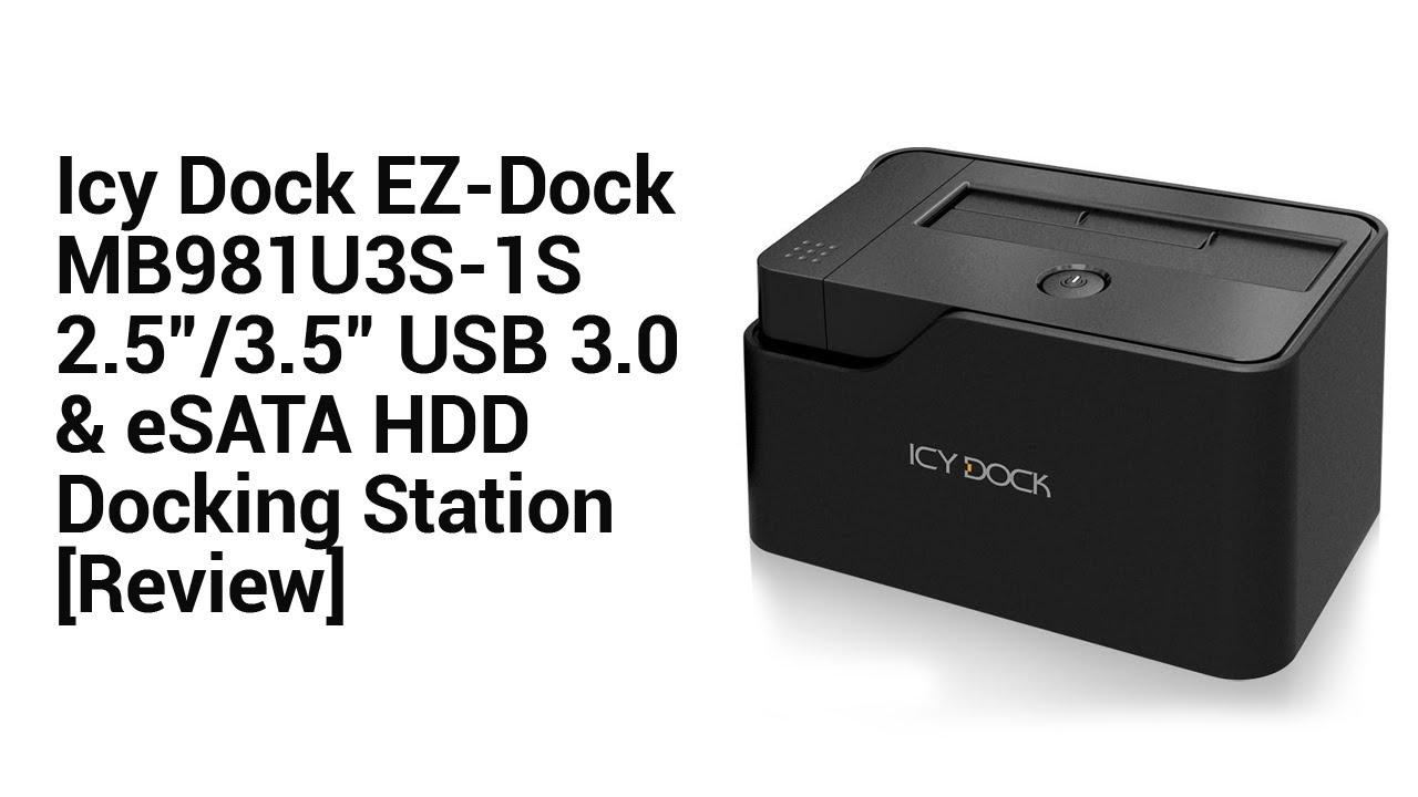 "EZ-Dock MB981U3S-1S 2,5/""//3,5/"" SATA to USB 3.0 /& eSATA Dockingstation"